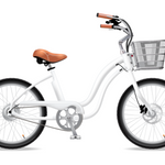 Electric Bike Company Model M -a smaller classic Electric Cruiser with 24″ wheels