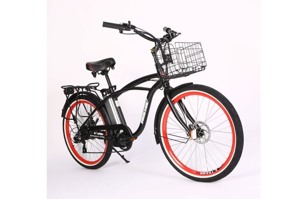 X-Treme Newport Elite 24 Volt Beach Cruiser Electric Bicycle