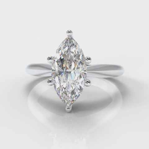 Marquise lab grown diamond engagement ring