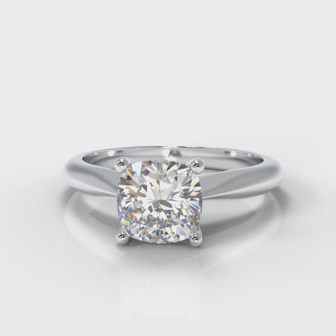Cushion Cut Lab Grown Diamond Engagement Ring