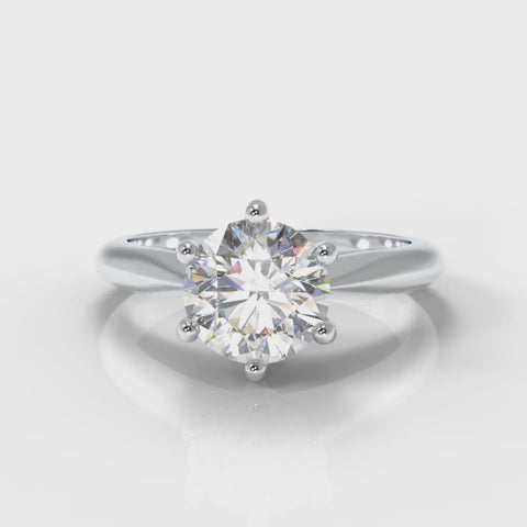 round brilliant cut lab grown diamond engagement ring
