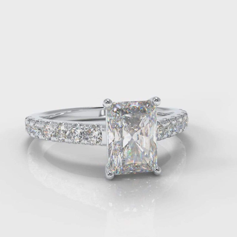 Castle Radiant Cut Lab Diamond Engagement Ring-Ring Setting-Pure Carats-Pure Carats
