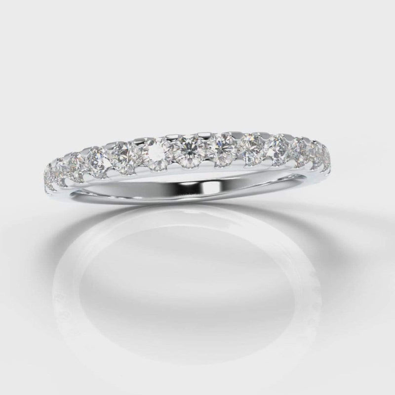 Castle Set Lab Diamond Wedding Band-Wedding Ring-Pure Carats-Pure Carats