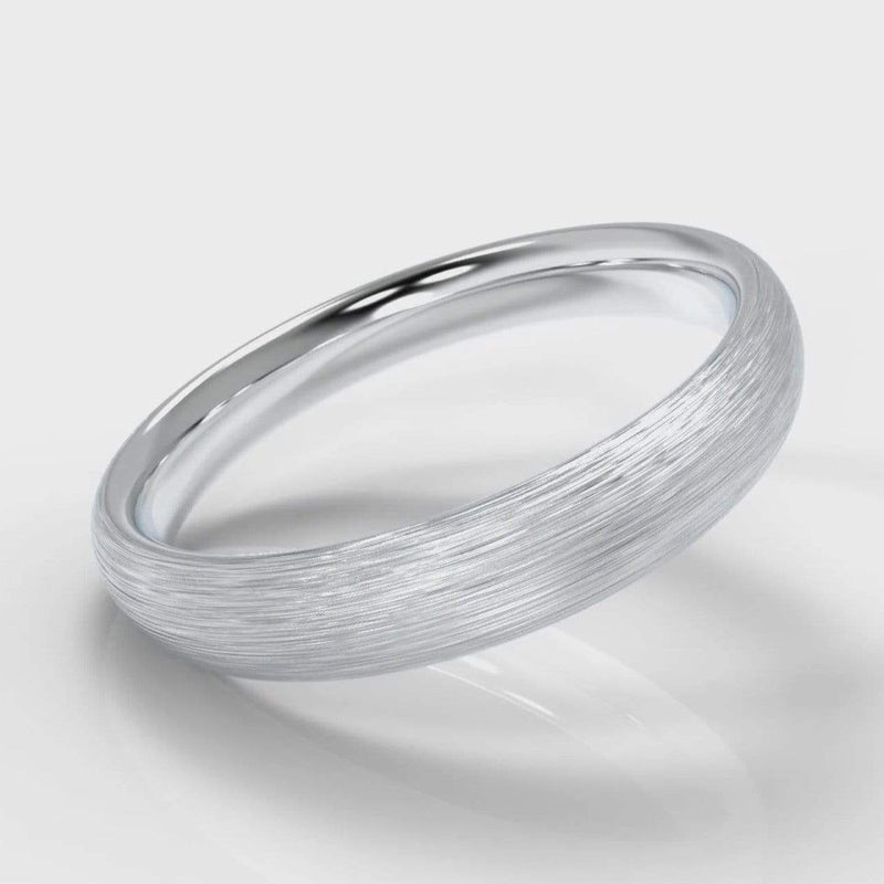 Classic Court Comfort Fit Brushed Wedding band - 4mm wide-Wedding Ring-Pure Carats-Pure Carats
