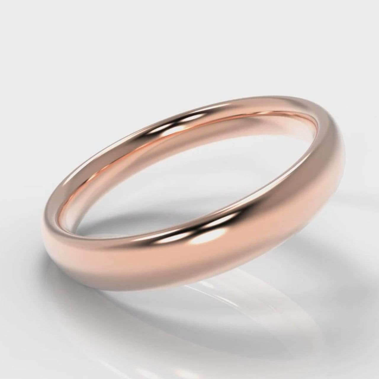 Classic Court Comfort Fit Wedding band - 4mm wide - Rose Gold-Wedding Ring-Pure Carats-Pure Carats