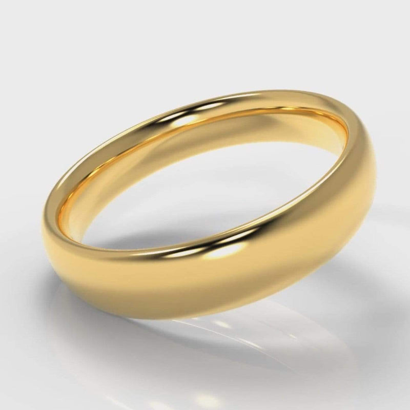 Classic Court Comfort Fit Wedding band - 5mm wide - Yellow Gold-Wedding Ring-Pure Carats-Pure Carats
