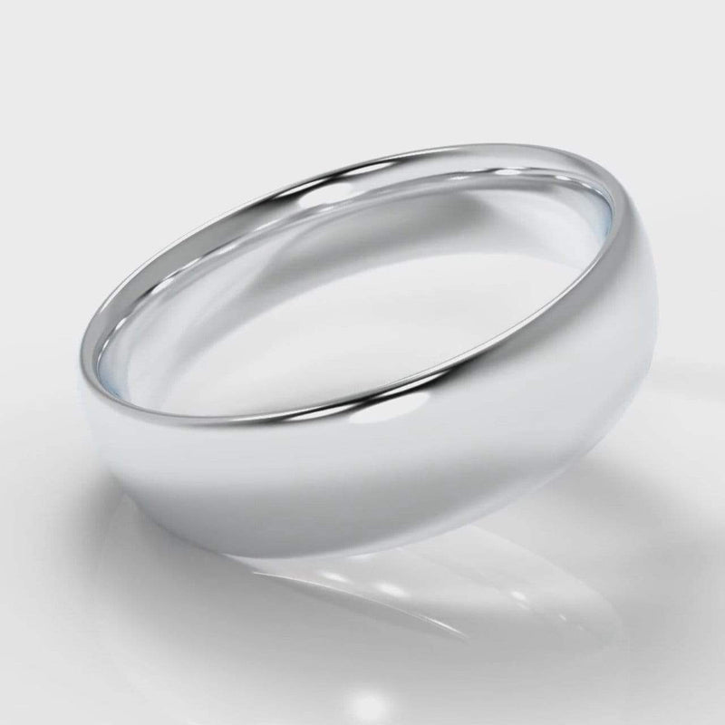 Classic Court Comfort Fit Wedding Band - 6mm wide-Wedding Ring-Pure Carats-Pure Carats