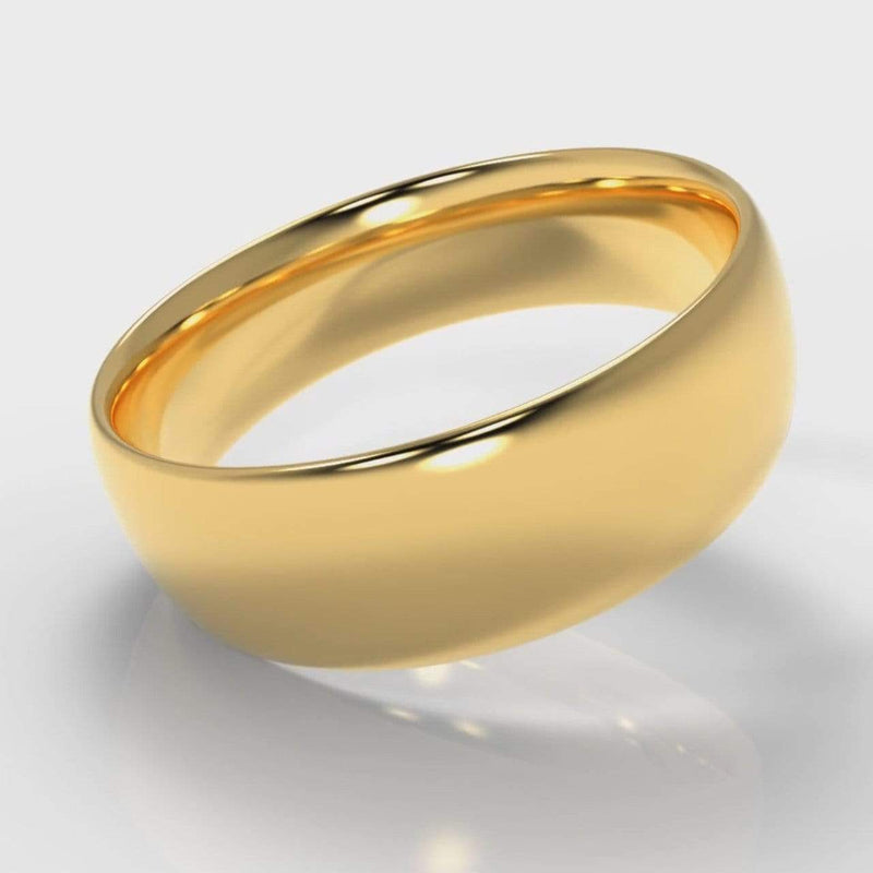 Classic Court Comfort Fit Wedding Band - 7mm wide - Yellow Gold-Wedding Ring-Pure Carats-Pure Carats
