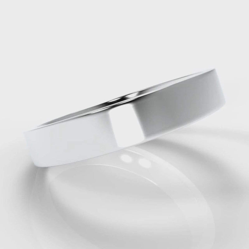 Classic Flat Court Comfort Fit Wedding Band - 4mm wide-Wedding Ring-Pure Carats-Pure Carats