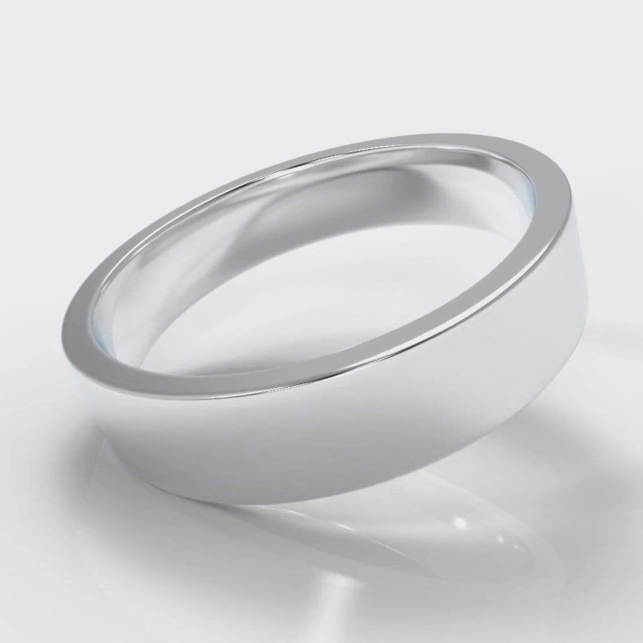 Classic Flat Court Comfort Fit Wedding Band - 5mm wide-Wedding Ring-Pure Carats-Pure Carats