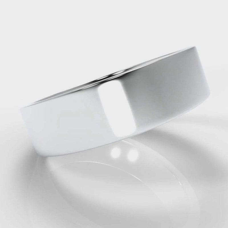 Classic Flat Court Comfort Fit Wedding Band - 6mm wide-Wedding Ring-Pure Carats-Pure Carats
