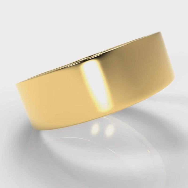 Classic Flat Court Comfort Fit Wedding Band - 7mm wide - Yellow Gold-Wedding Ring-Pure Carats-Pure Carats