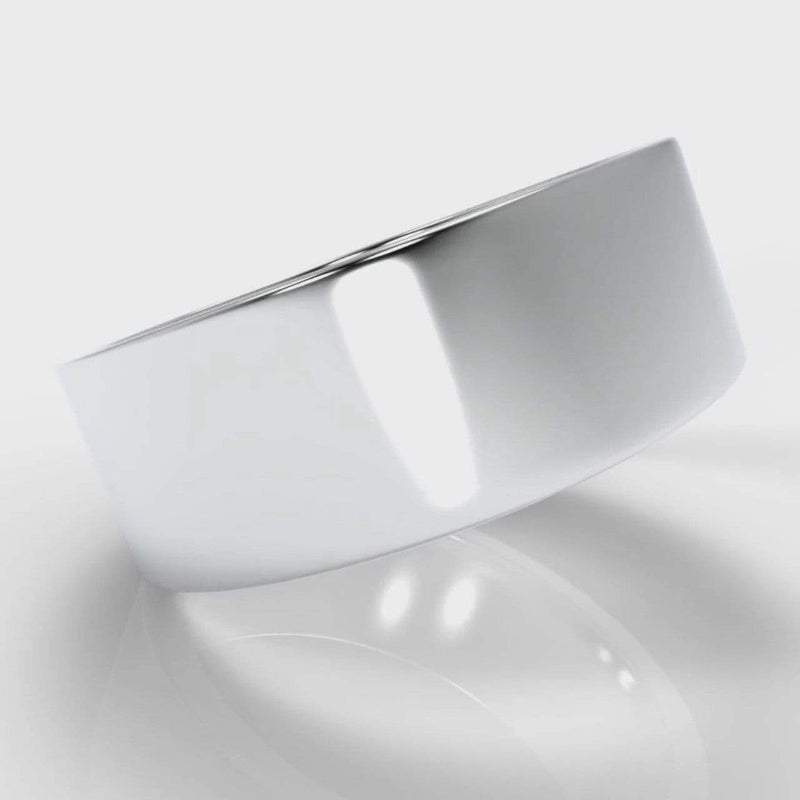 Classic Flat Court Comfort Fit Wedding Band - 8mm wide-Wedding Ring-Pure Carats-Pure Carats