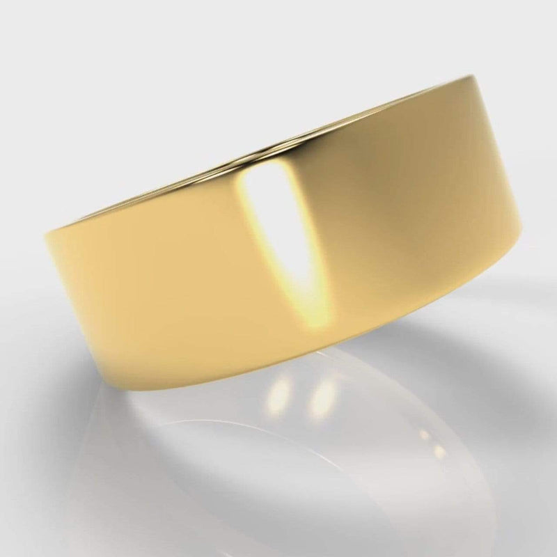 Classic Flat Court Comfort Fit Wedding Band - 8mm wide - Yellow Gold-Wedding Ring-Pure Carats-Pure Carats