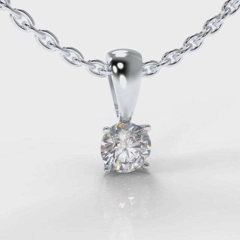 Classic Four Claw Lab Diamond Pendant-Pendant-Pure Carats-Pure Carats