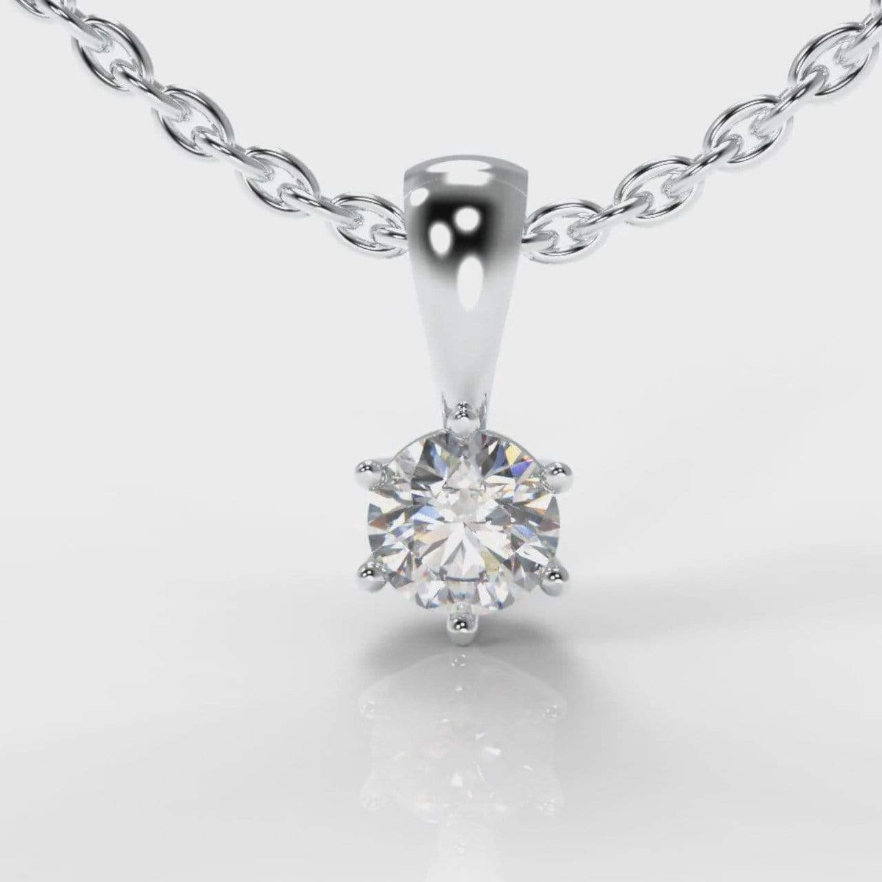 Classic Six Claw Lab Diamond Pendant-Pendant-Pure Carats-Pure Carats