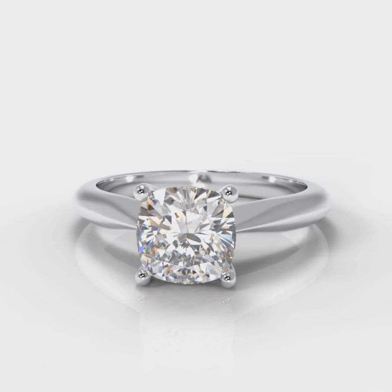 Classic Solitaire Cushion Cut Lab Diamond Engagement Ring-Ring Setting-Pure Carats-Pure Carats