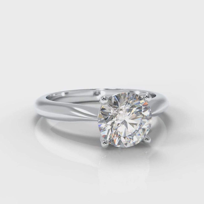 Classic Solitaire Round Brilliant Cut Lab Diamond Engagement Ring-Ring Setting-Pure Carats-Pure Carats