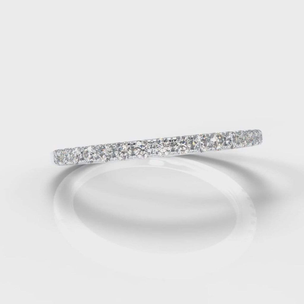Fine Castle Set Lab Diamond Wedding Band-Wedding Ring-Pure Carats-Pure Carats