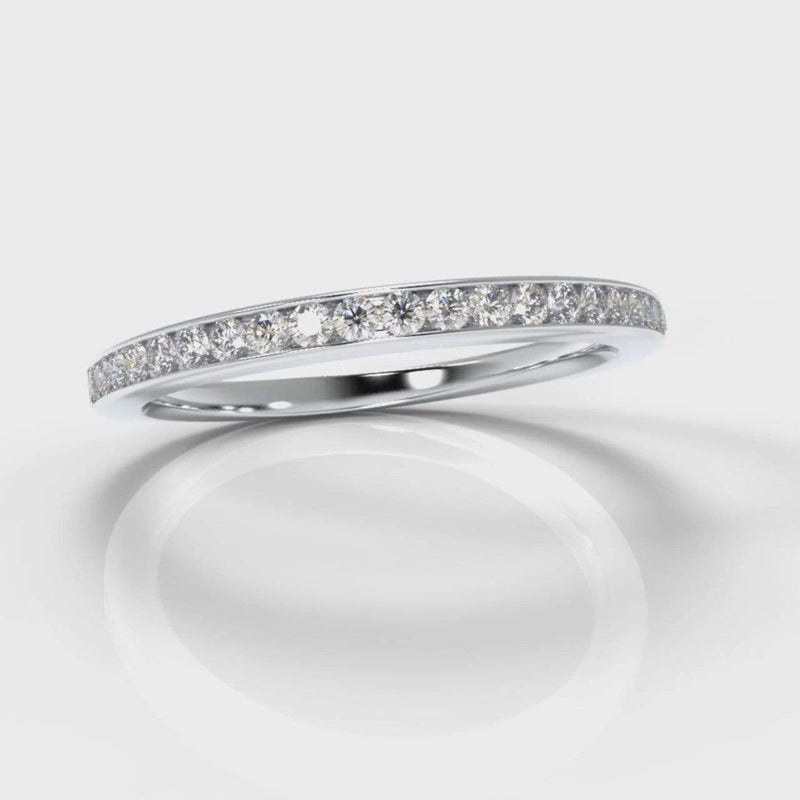 Fine Channel Set Lab Diamond Wedding Band-Wedding Ring-Pure Carats-Pure Carats