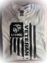 Load image into Gallery viewer, Unisex USMC Veteran Tee/ Graphic T Shirt / United States Marine Corp