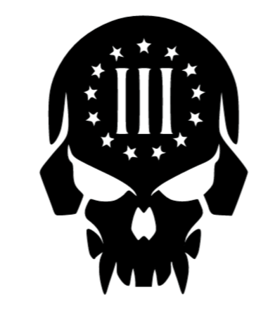 Punisher 3 Percent Decal