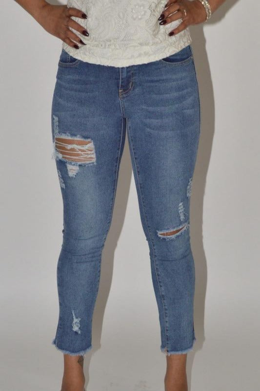 Cropped Bottom Jeans
