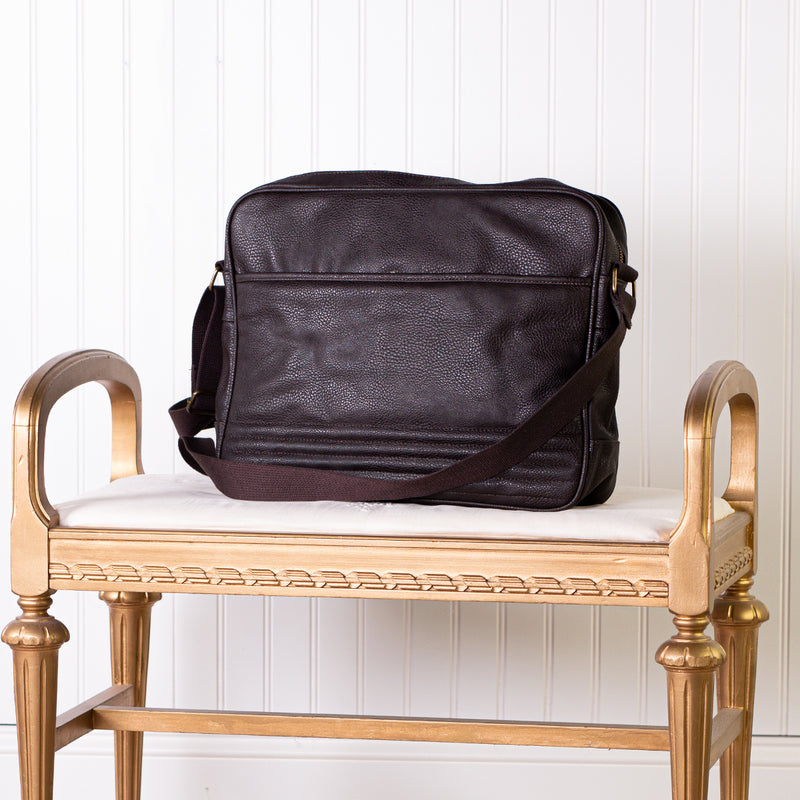 Dark Brown Vegan Leather Computer Bag