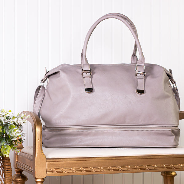 Let's Go Women's Duffle Bag - Gray