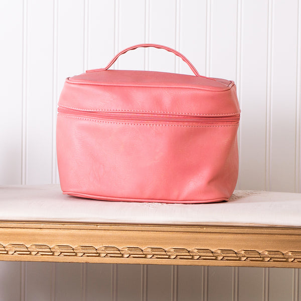 Let's Go Travel Cosmetic Bag - Coral