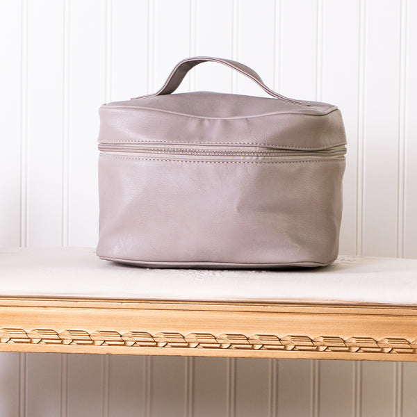 Let's Go Travel Cosmetic Bag - Grey