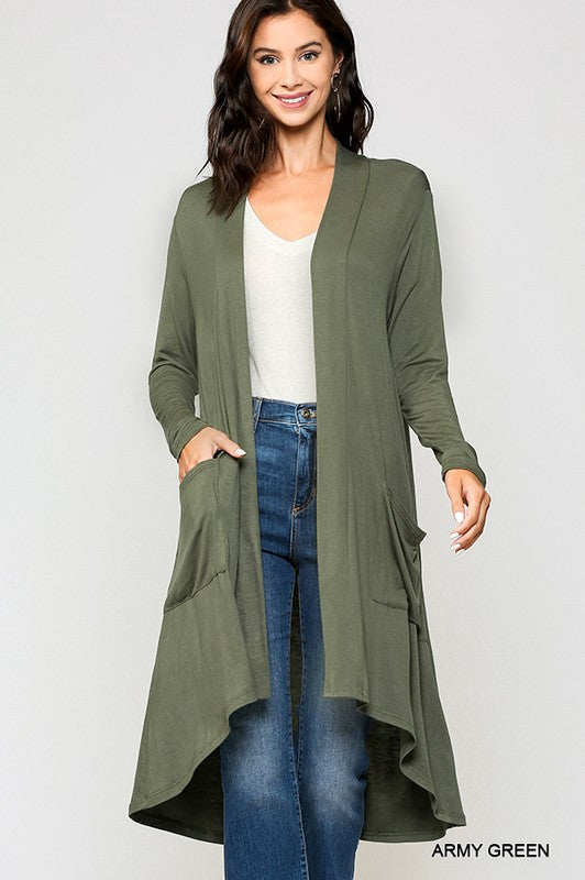 Southern Nights Cardigan - Army Green