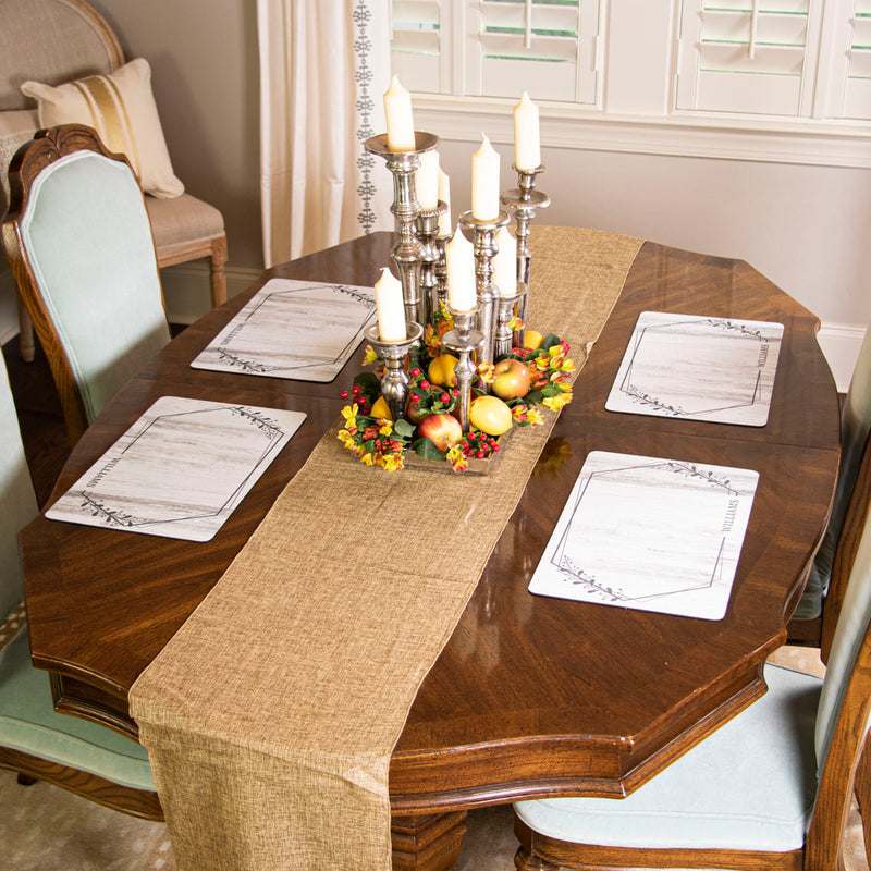 The Heart of the Home Table Runner - Natural