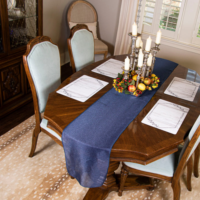 The Heart of the Home Table Runner - Blue