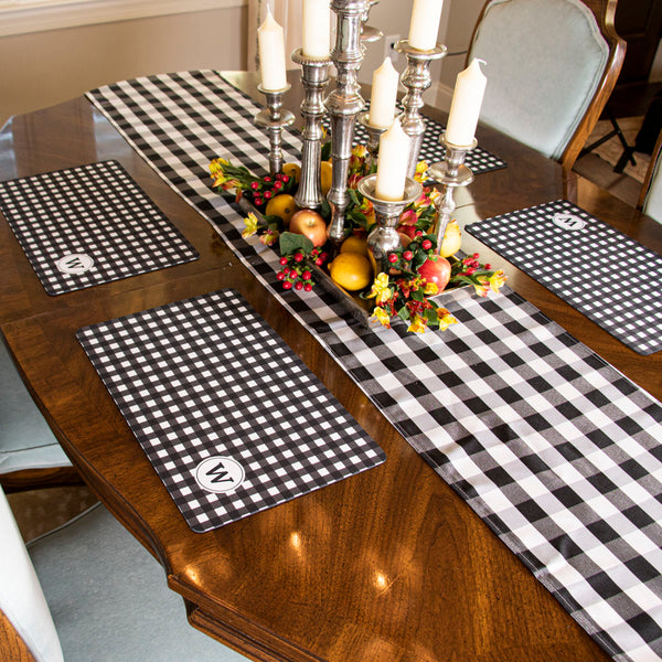 Buffalo Check Table Runner - Black/White
