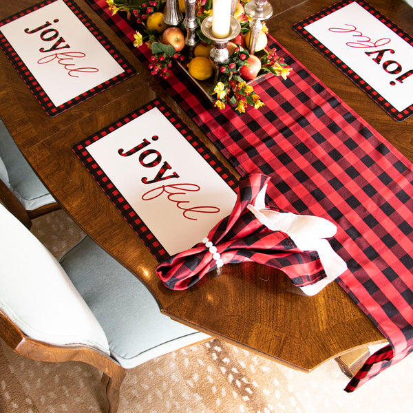 Buffalo Check Table Runner - Red/Black