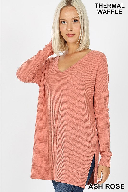 Now and Then Long Sleeve Top - Ash Rose