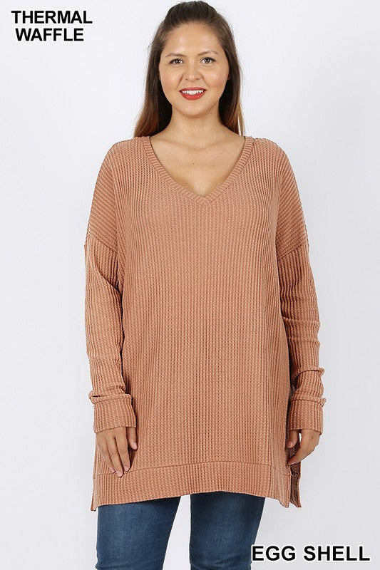 Now and Then Long Sleeve Top - Egg Shell