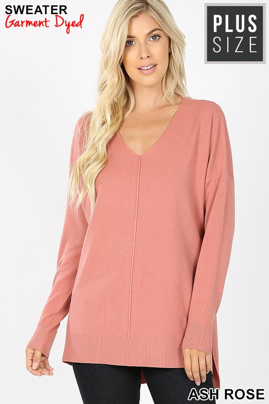 Down The Line Sweater - Ash Rose