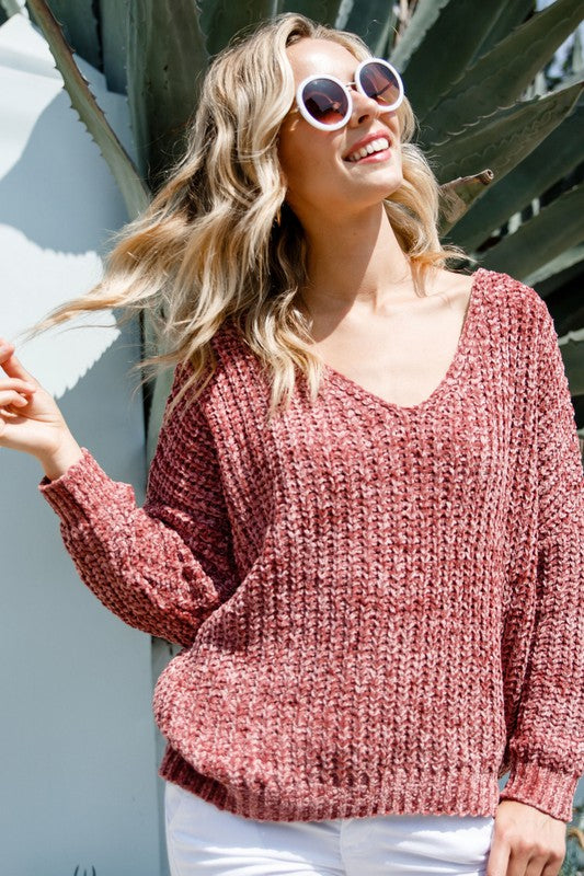 Cooler Weather Chenille Sweater