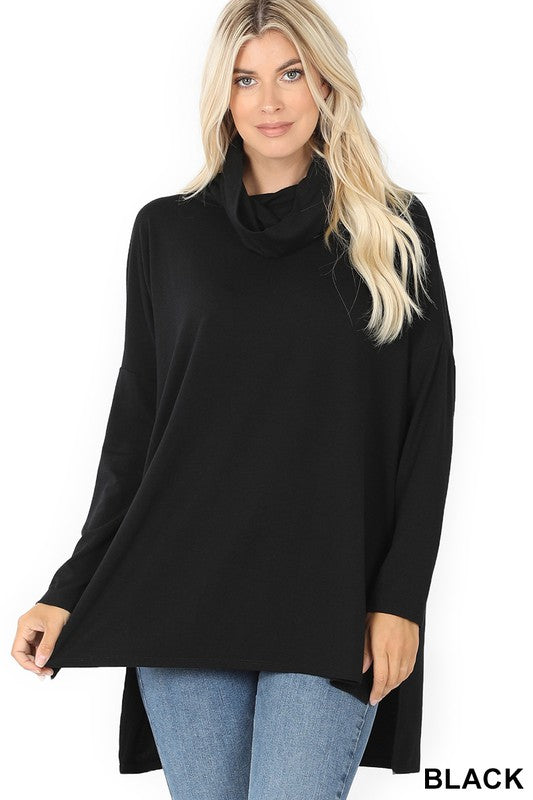 Close To Me Cowl Neck Sweater - Black