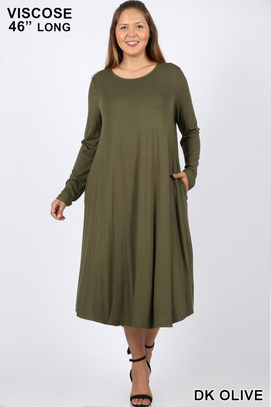 Every Other Day Dress - Dark Olive