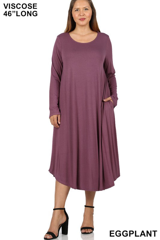 Every Other Day Dress - Eggplant