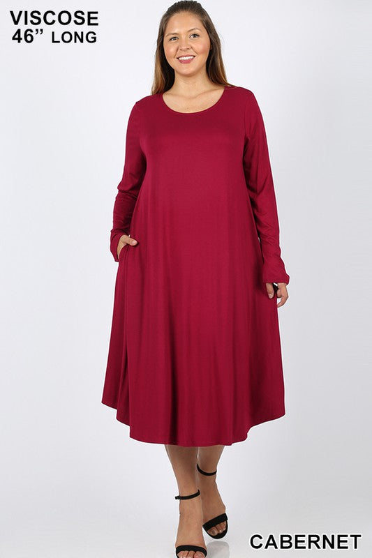 Every Other Day Dress - Cabernet