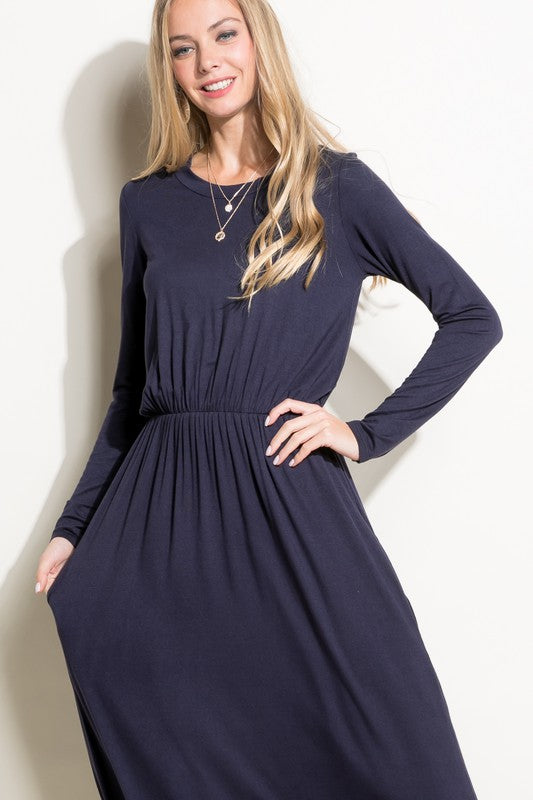 Effortless Ease Empire Maxi Dress