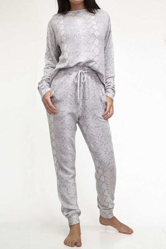 Lounging Around Set - Python Snakeskin Pajamas