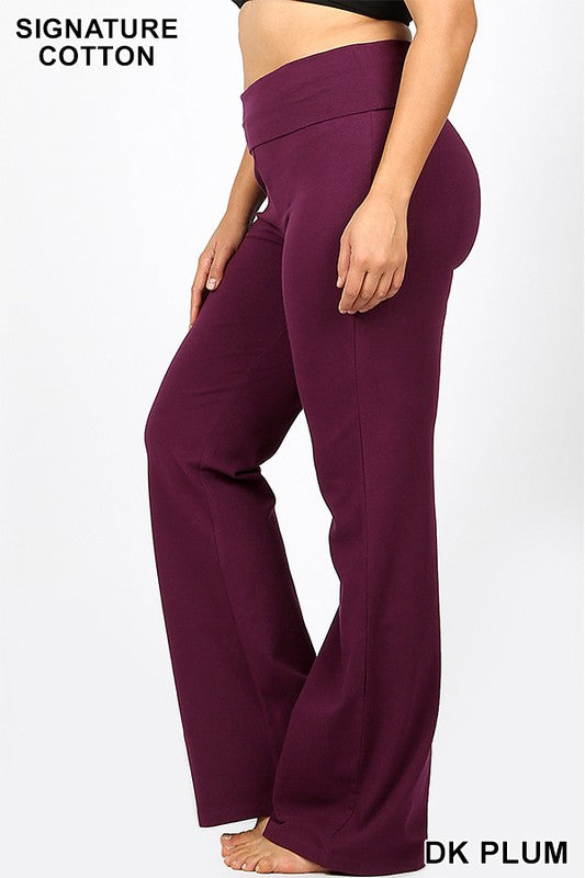 Rise and Shine Yoga Pants - Dark Plum