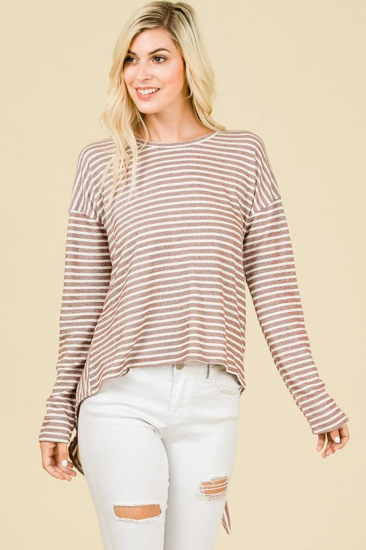 Stripes and Ties Top - Pink