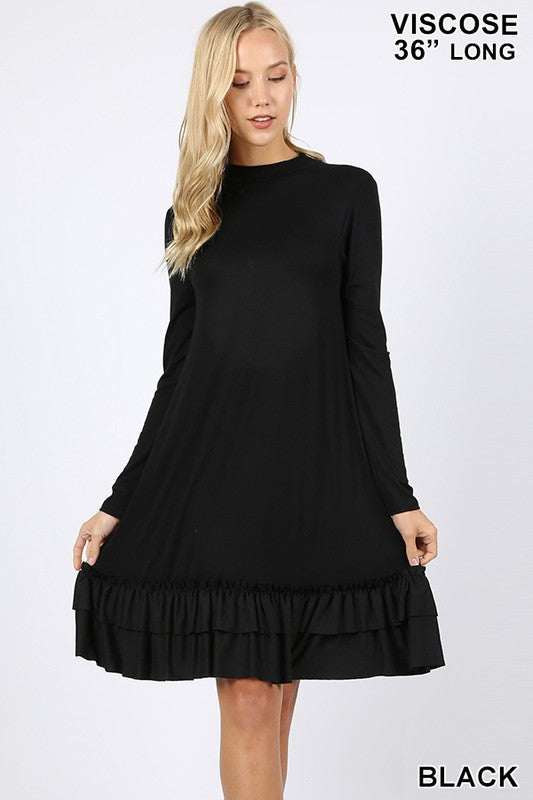 For The Frill Of It Dress - Black