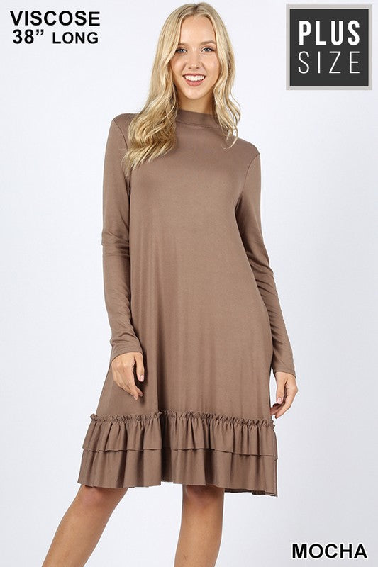 For The Frill Of It Dress - Mocha